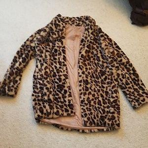 NWOT Never worn Animal print coat